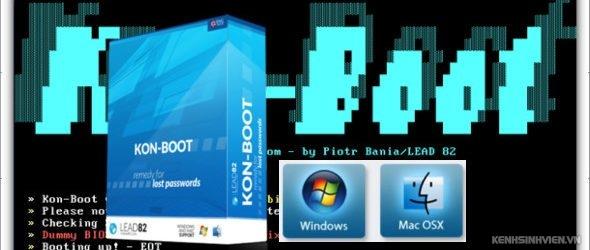 Kon-Boot 2.7 full – Đăng nhập vào Windows khi quên mật khẩu