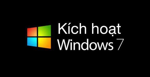 Windows 7, cách active bằng cmd