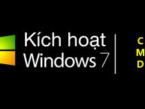 Active Windows 7 bằng CMD (Không Crack) Mới Nhất 2020