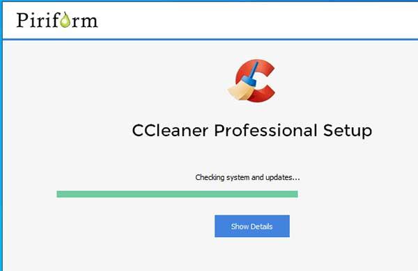 Quá trình cài đặt ccleaner pro