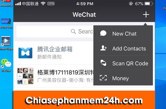 Tính năng add contact của WeChat