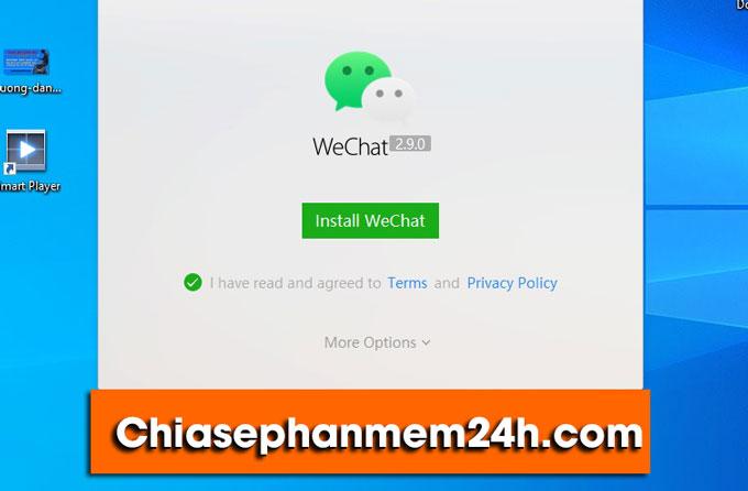 Chuẩn bị cài đặt WeChat