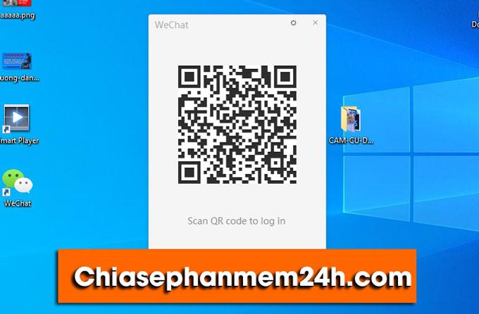 Quét mã QR code để đăng nhập WeChat