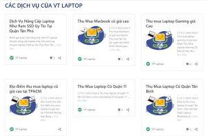 Cửa Hàng thu mua laptop cũ giá cao quận Tân Bình HCM VT Laptop