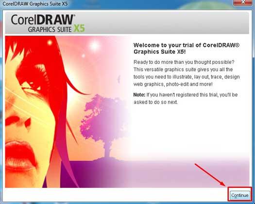 Click Register Later>Continue để hoàn thành quá trình hướng dẫn cài đặt phần mềm corel15